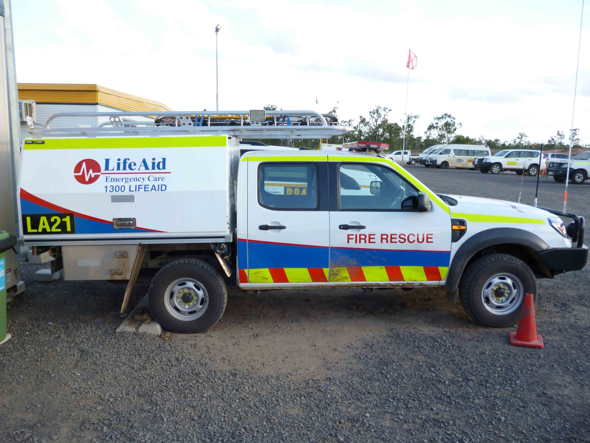 LifeAid fire rescue vehicle