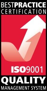 ISO9001 quality accreditation symbol