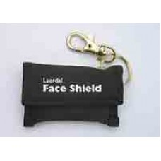 Disposable CPR face shield on a key ring