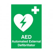 Automated External Defibrillator (AED) signage