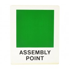 Asssembly point sign - green square