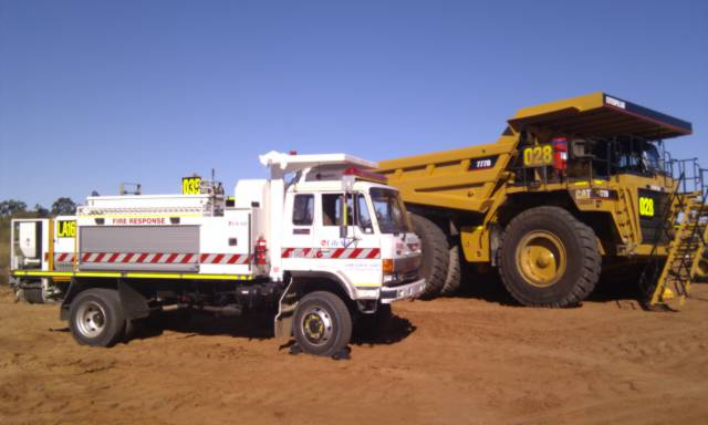 Life Aid emergency response vehicle at mine site