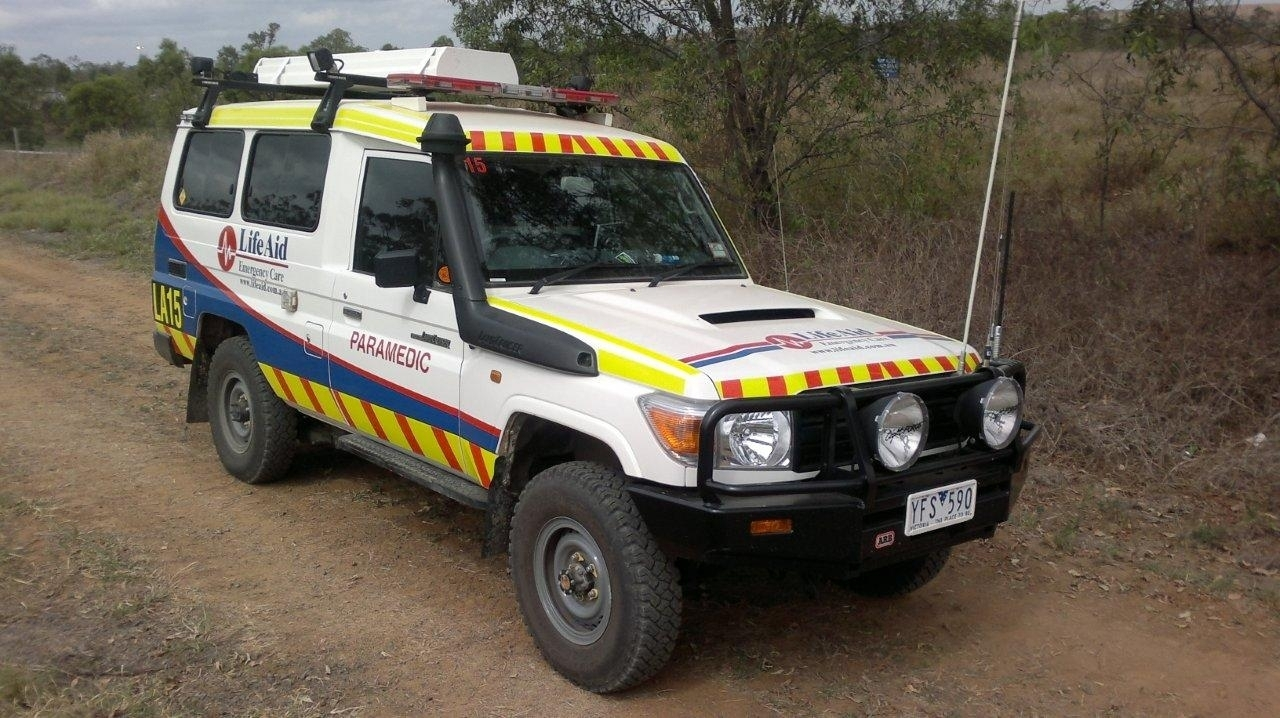 Paramedic service vehicle in remote location